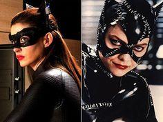 michelle pfeiffer anne hathaway catwomen    catwoman #vintagemoviestars