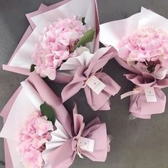 Paper wrap hydrangea bouquet