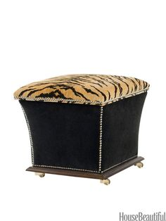 Take a walk on the wild side. The perfect size for an end table, or wheel it over to wherever you need a seat.