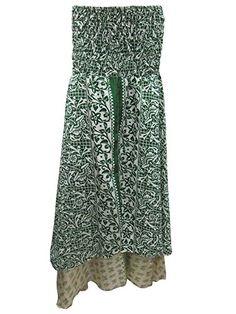 Women's Vintage Long Skirts Silk Sari Green Printed Boho ... https://www.amazon.com/dp/B01G59A0AO/ref=cm_sw_r_pi_dp_x_HLvSybW83DFP5 #skirt #bohemianstyle #dividedskirt #bohofashion #maxiskirt #longskirt