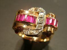 Anillo oro diamantes Chevalier