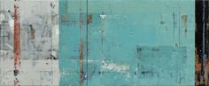 "Kevin Ghiglione    ""Highway Number Two""  Encaustic on panel    30"" x 72"", Diptych    From his solo show Fri Nov 28th 6-9 pm Don't miss this or dozens of other great works! www.musegallery.ca"