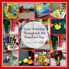 Teaching 2 and 3 Year Olds: Exploring Colors in Preschool