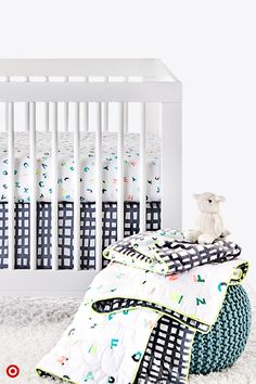 In no time, Baby will be here, and you'll want to welcome your little one with bright, happy images and colors. The Oh Joy! ABC 4-piece Crib Bedding Set features a whimsical design based on the alphabet. It's as cute as can be for either a girl or boy, so why not add it to your registry?