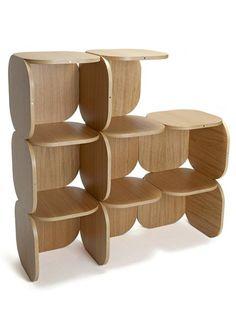 Oak #bookcase + / - by Haymann   #design Toni Grilo #wood