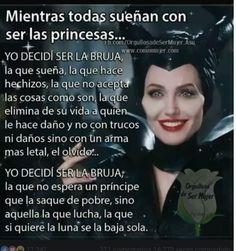Prefiero ser bruja a princesa #strong women