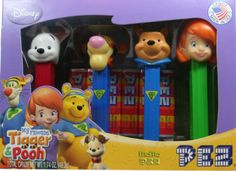 2009 Pez Tigger and Pooh set.. Winnie Sleuth and Tigger Sleuth, Darby and Buster (Box #4)