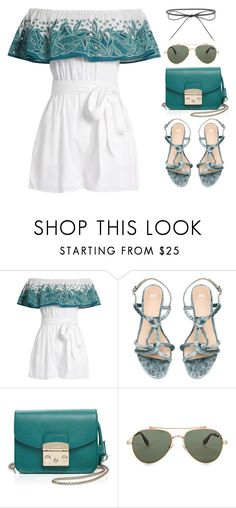 """""""5 Items Outfit"""" by pure-vnom ❤ liked on Polyvore featuring Mara Hoffman, Furla, Givenchy and Elizabeth and James"""