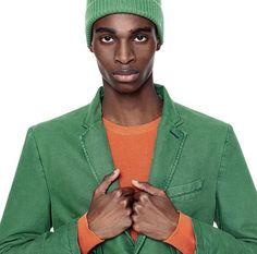 #clothesforhumans #Benetton #FW16 #collection #trend #fashion #man #jacket #green #hats