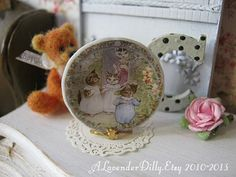 Tom Kitten Plate for Dollhouse by ALavenderDilly on Etsy