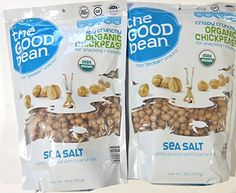 The Good Bean Sea Salt Flavor Crispy Crunchy Organic Chickpeas, 18 Ounce (Pack of Crunchy Chickpeas, Best Beans, Dried Beans, Special Deals, Organic Vegetables, Chorizo, Lebanon, Chana Masala, Sea Salt