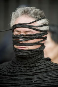 Mexico City, Mexico: an activist from the Movement for Peace with Justice and Dignity prepares to take part in a protest against the Mexican governmentPhotograph: Alfredo Estrella/AFP/Getty Images
