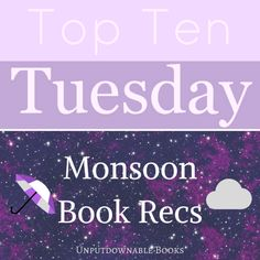 Top Ten Tuesday: Rainy Day Reading Recommendations  It's time for the monsoon in India and here are 10 books you can curl up with on a rainy day with a hot beverage and cozy bed for company!