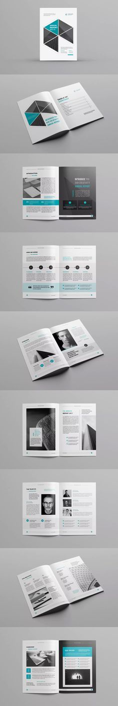Annual Report Template InDesign INDD A4