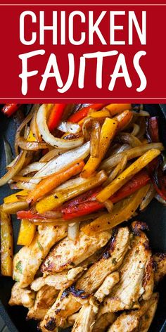 A flavorful marinade and a quick sear make for easy homemade chicken fajitas—onions and bell peppers help, too. This is a classic you can make yourself! Carnitas, Barbacoa, Chicken Fajita Rezept, Marinated Chicken, Grilled Chicken Fajitas, Carne Asada, Chicken Marinades, Chicken Recipes, Chicken Fajitas Marinade Recipe