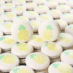 Aren't these just Lovely?! #pineapple #macarons ...just like our previous post; #giveaway #pineapplenightlight regram by @lepetitmacaronperth