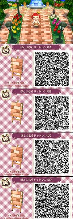 Animal Crossing New Leaf QR codes cocoa pathways