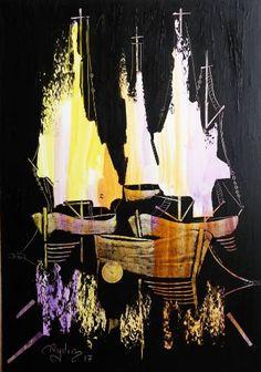 Sailboats in the dark 13