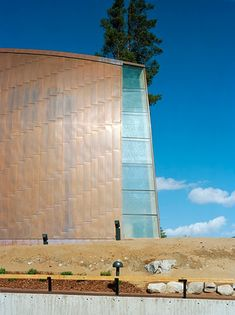 copper cladding and glazed altar end of the St. Henry's Ecumenical Art Chapel in Turku, Finland by Sanaksenaho Architects, 2005 #architecture