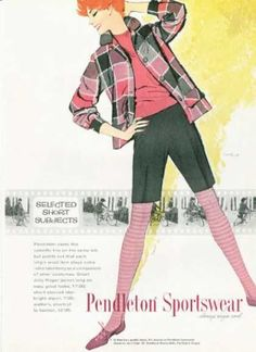 vintage pendleton ad   Sportswear (Ted Rand 1959)   Pendleton – Womens Vintage Ads