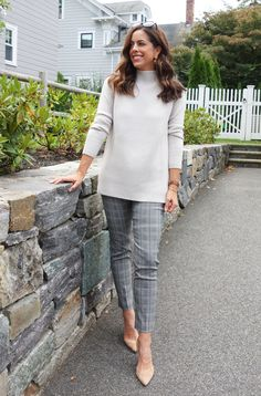Fashion Friday: Fall Plaid with Halsbrook Night Out Tops, Great Cuts, Fall Plaid, Elements Of Style, Plaid Pants, Office Dresses, Cool Sweaters, Printed Pants, Style Blog