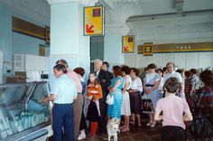 Moscow 1989 food queue