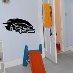Childs room race car vinyl wall decal