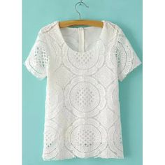 hollow out lace design tee