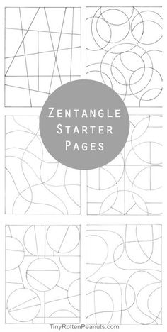 Inspired By Zentangle Patterns and Starter Pages - Tiny Rotten Peanuts