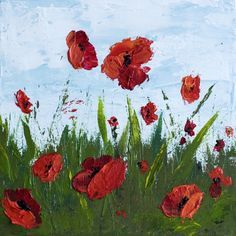 How To Paint Poppy Flowers with Acrylic Paint and a Palette Knife, Simple Step-By-Step Tutorial. I have had several people ask about my painting process and I thought I'd share it on my blog. I lov…
