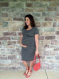 Striped Dress with P