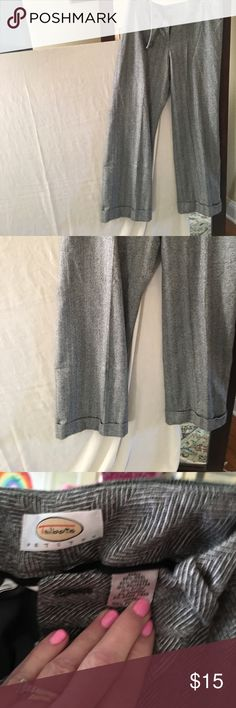 Talbots's wool pants Lovely gray and white herringbone wool pants, cuffed at the hem Talbots Pants Trousers