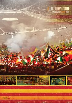 La Curva Sud, Stadio Olimpico, Roma, Italia... What can you say about the Curva Sud? From days of storied past with views of the Monte Mario in the background, up…
