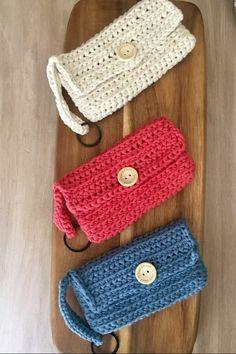 Crochet Keychain Pattern, Crochet Purse Patterns, Knitting Paterns, Crochet Pouch, Crochet Bookmarks, Crochet Bracelet, Crochet Purses, Crochet Bags, Crochet Flowers