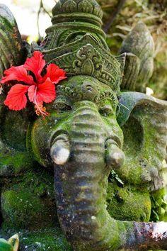 Photo Bali Ganesh by Pratyush Lal on Townhouse Garden, Balinese Garden, Sacred Garden, Bali Lombok, Shree Ganesh, Art Optical, World Religions, Lord Ganesha, Ubud