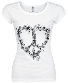 the peace and love white t-shirt