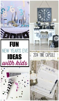 Get some really fun New Year's Eve ideas for kids to have your own awesome party at home! New Year's Eve Activities, Craft Activities For Kids, New Years Traditions, Holiday Traditions, Christmas And New Year, Winter Christmas, Eve Game, Gatsby Themed Party, New Year's Eve Celebrations