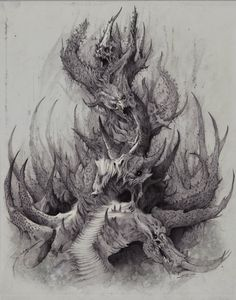 The Demonic, Soul-sucking Tower of Death, Bobby Rebholz on ArtStation at https://www.artstation.com/artwork/GanZB