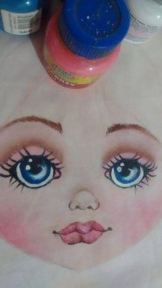 Rostinho pintado a mão de Boneca Russa. Projeto parte 1
