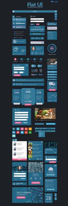 Free Deal Flat User Interface Set