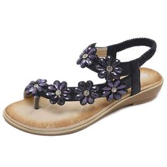 promo code 3e2bf 34ef4 Lady Sandals Bohemian Large-Size Comfortable Flat-soled Shoes
