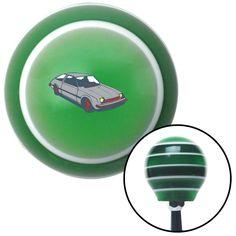 Hatchback Grey Green Stripe Shift Knob with M16 x 15 Insert