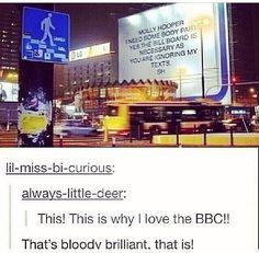 Sherlock billboard. BBC is the best.