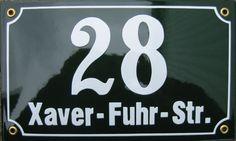Hausnummernschild Emaille 2-zeilig Haustürschilder Emaille