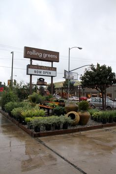 Outdoors in the garden on Beverly Blvd. | Rolling Greens
