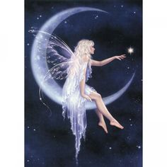 blue moon fairy art print birth of a star is part of Fairy tattoo - Blue Moon Fairy Art Print Birth of a Star Fantasyart Moon Fairy Dust, Fairy Land, Fairy Tales, Magic Fairy, Magical Creatures, Fantasy Creatures, Elfen Tattoo, Fantasy Kunst, Moon Fairy