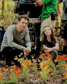 Joseph Morgan & Summer Fontana →BTS of The Originals s4