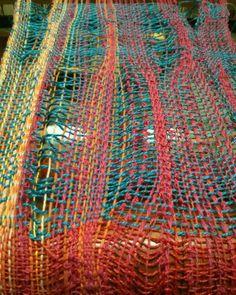 Comb reed weaving SAORI Salt Spring