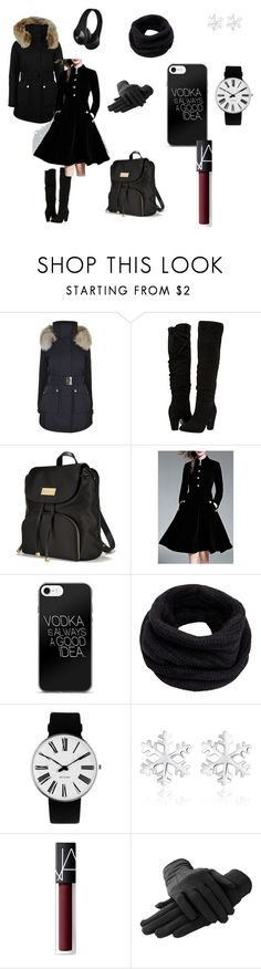 """""""A tired student in the winter"""" by captainimpossiblegirl ❤ liked on Polyvore featuring K100 Karrimor, Dorothy Perkins, Victoria's Secret, WithChic, Helmut Lang, Rosendahl and NARS Cosmetics"""