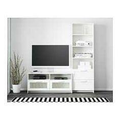 Brimnes Tv Storage Combination White 180 X 41 190 Cm